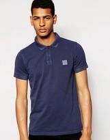 Boss Orange Polo Shirt In Slim Fit Blue