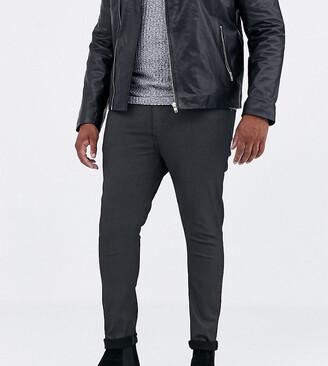 Asos Design DESIGN Plus super skinny coated smart jeans in military green
