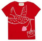 Gucci Baby T-shirt with dove print