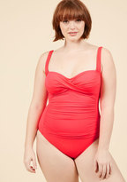 ModCloth Summer in the Sizzle One-Piece Swimsuit in Watermelon in 18