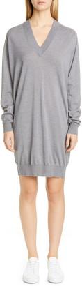 Maison Margiela Long Sleeve Wool Sweater Dress