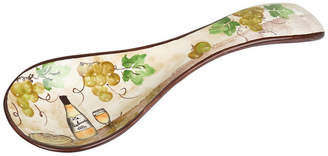 Lorren Home Trends White Grape Ceramic Spoon Rest Set of 2