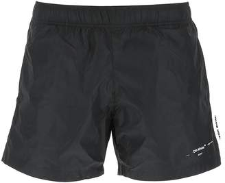 Off-White Logo Swimming Shorts