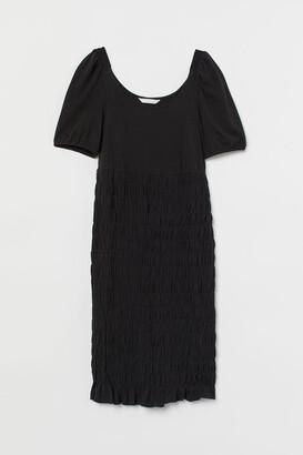 H&M MAMA Smocked Dress - Black