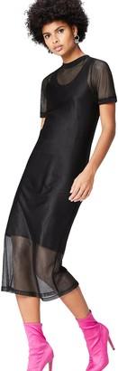 Find. Amazon Brand Women's Dress with Mesh Overlay