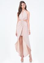Bebe Front Twist Hi-Lo Dress