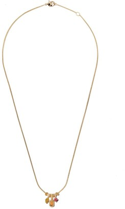 David Yurman 18kt yellow gold Novella pendant necklace