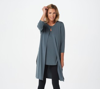 Susan Graver Every Day by Petite Liquid Knit Tunic