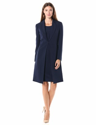 Le Suit LeSuit Women's Notch Collar Crepe Topper & Sheath Dress Suit