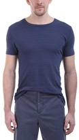 ATM Anthony Thomas Melillo Men's Jaquard Stripe Crew Neck Tee
