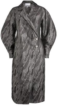 Ganni Jacquard Wrap Midi Dress