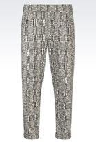 Emporio Armani Runway Trousers In Prince Of Wales