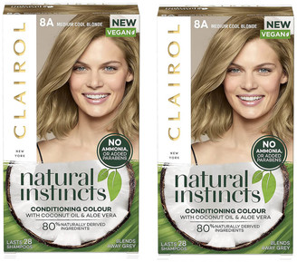 Clairol Natural Instincts Semi-Permanent No Ammonia Vegan Hair Dye Duo (Various Shades) - 8A Medium Cool Blonde
