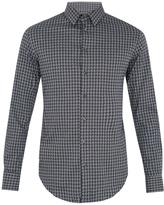 Giorgio Armani Geometric-jacquard cotton shirt
