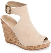 Johnston & Murphy Women's Mila Slingback Platform Wedge Sandal