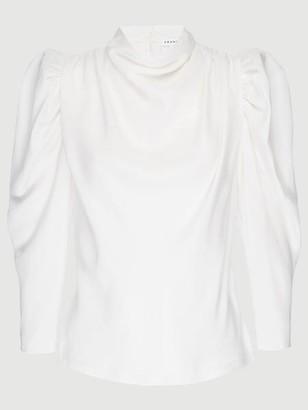 Frame Silk Safari Drape Top
