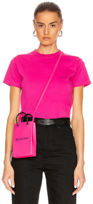 Balenciaga Copyright Fitted T Shirt in Pink | FWRD