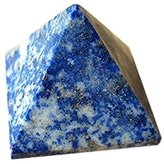 Healing Crystals India: 40 mm Lapis Lazuli Pyramid Carved Large Hand Carved Crystal Altar Healing Tray Dish Devotional Focus Spiritual Chakra