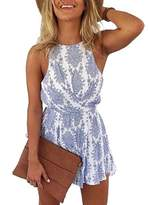 Lanzom Women Sexy Strap Backless Summer Beach Party Romper Jumpsuit