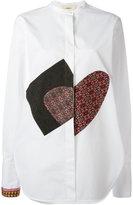 Ports 1961 multi patched shirt - women - Cotton/Polyester/Viscose - 44