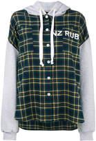 Natasha Zinko check panelled long sleeve hoodie