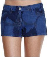 Armani Jeans Jeans Jeans Denim Tencel Shorts Print
