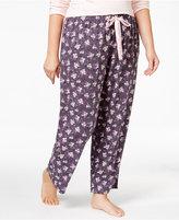 Alfani Plus Size Printed Knit Pajama Pants, Only at Macy's