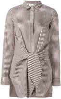 3.1 Phillip Lim tie waist shirt - women - Silk/Cotton - 6