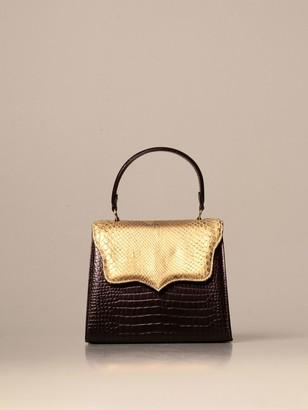 Tari' Rural Design Small Ab3 Tarigrave; Rural Design Bag In Crocodile And Python Print Leather