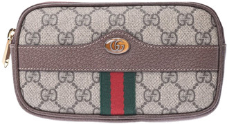 Gucci Beige Ophidia GG Supreme Canvas Belt Pouch