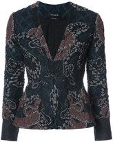 Yigal Azrouel woven serpent jacquard blazer - women - Polyamide/Polyester/Cupro - 0