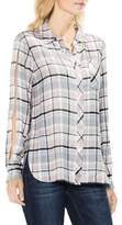 Vince Camuto Soft Rustic Plaid Split-Sleeve Button-Down Shirt