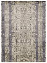 GRIT&ground Electro Fusion Silk Area Rug - Dark Gray, 10' x 14'
