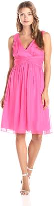 Donna Morgan Women's Jessie Short Chiffon Dress