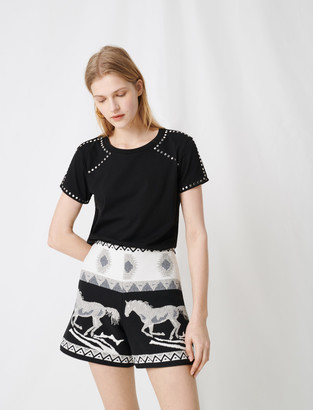 Maje Rock 'n' roll t-shirt with studs