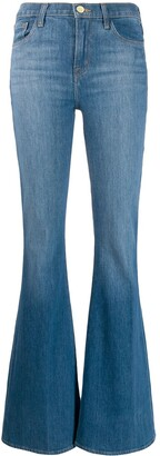 J Brand wide leg flared jeans