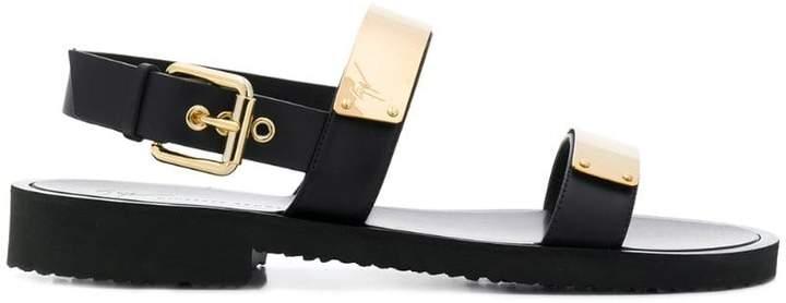 Giuseppe Zanotti Design logo plate sandals
