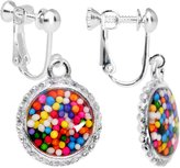 Body Candy Handcrafted Silver Plated Real Candy Sprinkles Clip On Earrings