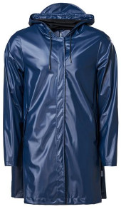 Rains A Line Jacket Shiny Blue - XXS/XS
