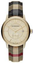 Burberry Classic Round Goldtone Check Watch