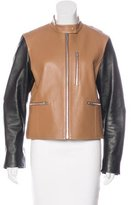 Alexander Wang Leather Colorblock Jacket