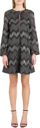 M Missoni Herringbone Lurex A-line Dress