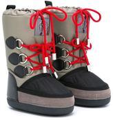Roberto Cavalli lace-up snow boots