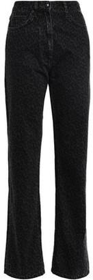 McQ Leopard-print High-rise Straight-leg Jeans