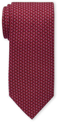 Michael Kors Red Geo Cube Silk Tie