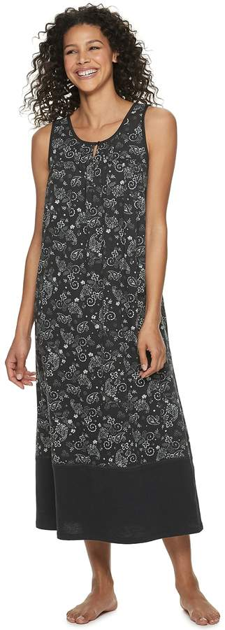 Croft & Barrow Petite Sleeveless Nightgown