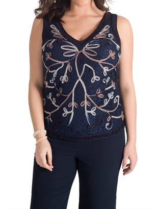 Chesca Cornelli Embroidered Lace Cami