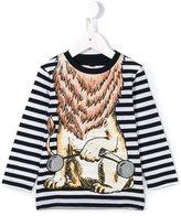 Stella McCartney striped lion print T-shirt
