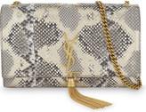 Saint Laurent Medium monogrammed Kate python-skin clutch