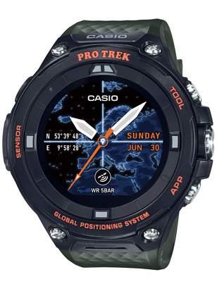 Casio Men's PRO Trek Stainless Steel Quartz Watch with Resin Strap